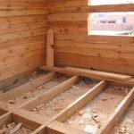 Как сделать черновой пол в деревянном доме своими руками