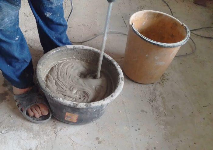 приготовление раствора для стяжки пола