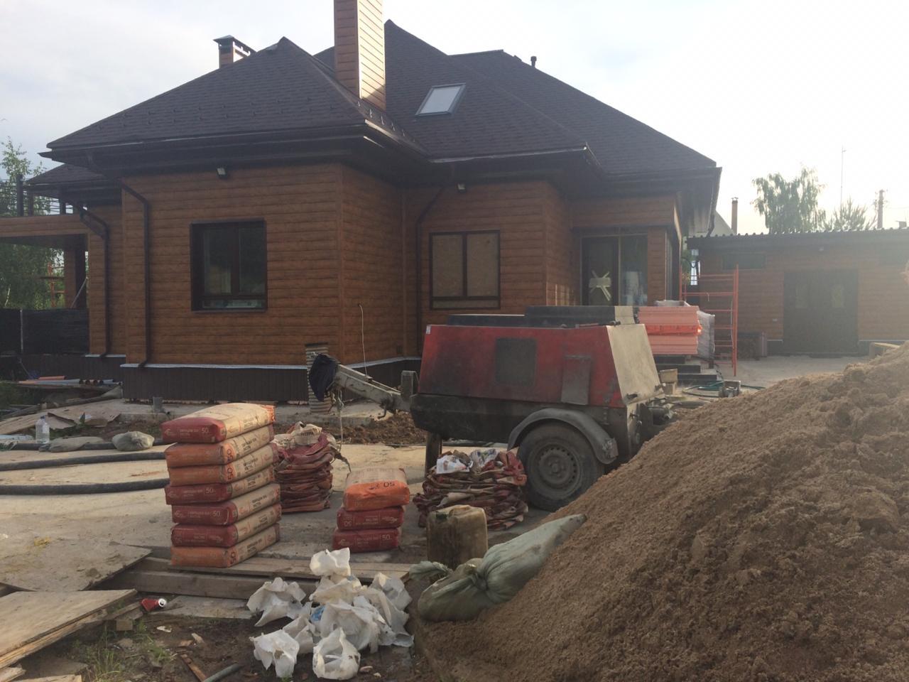 Полусухая стяжка пола в Одинцовском районе деревне Чупряково