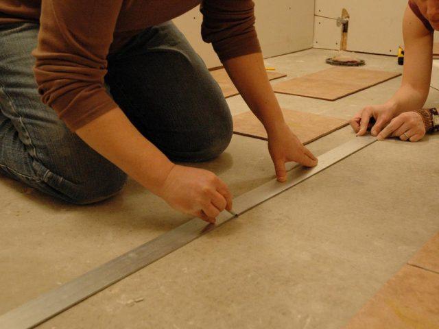Подготовительный этап укладкикерамической плитки