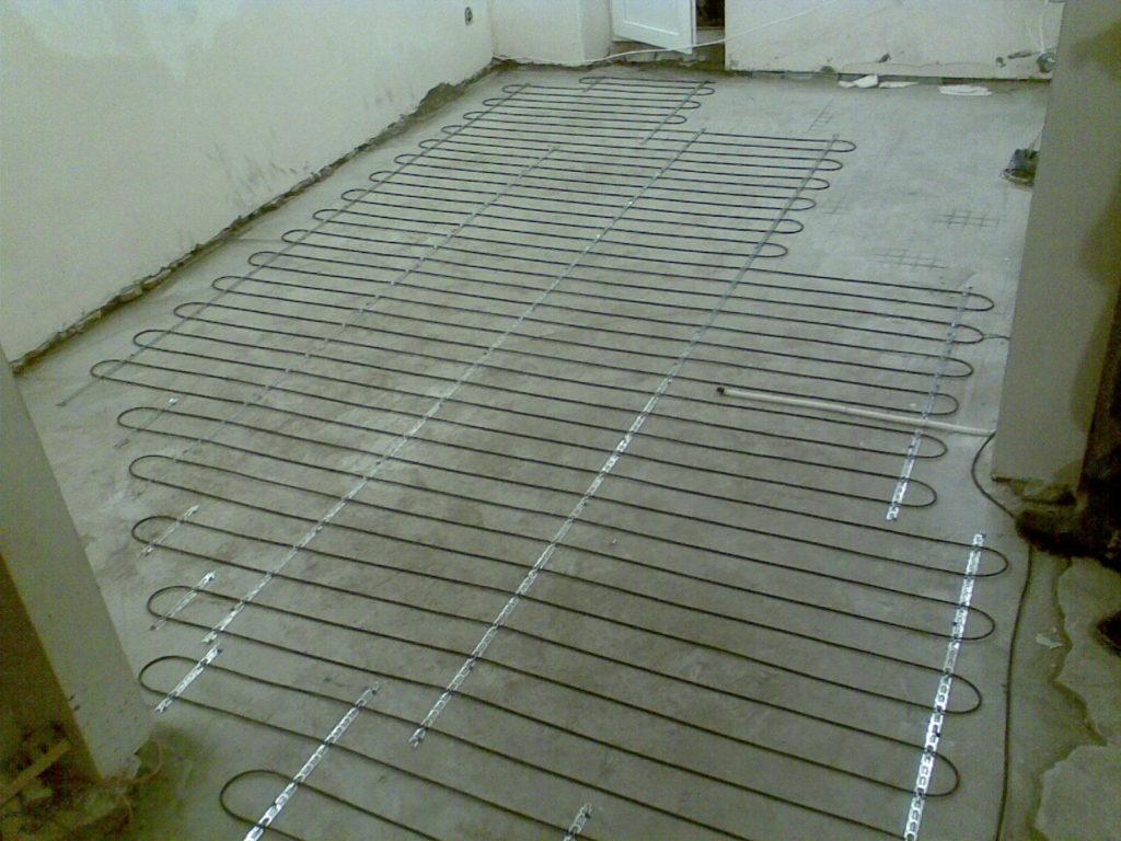 Теплый пол электрический в стяжку