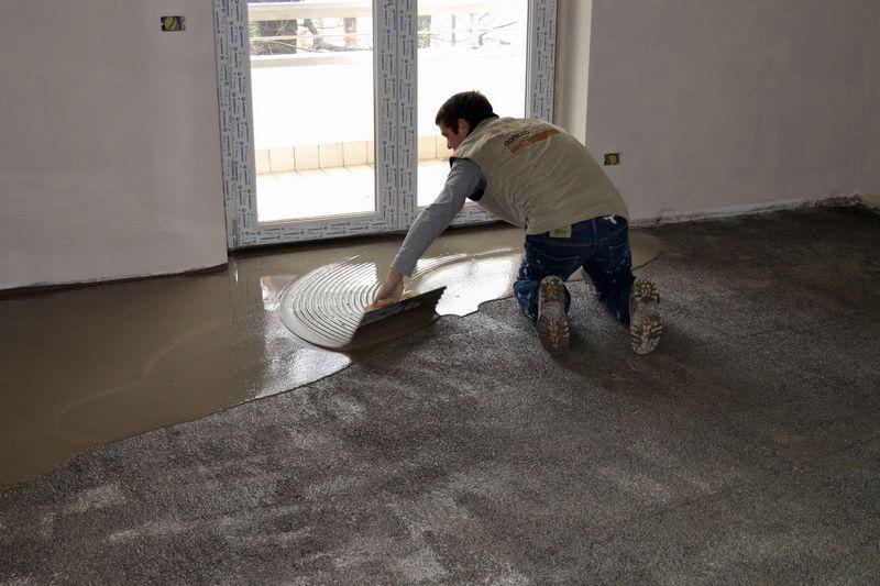 Наливной пол в квартире или доме на бетонную стяжку